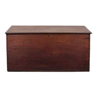 Handsome Mahogany Blanket Chest, Hand Dovetailed Corners and Lovely Color For Sale