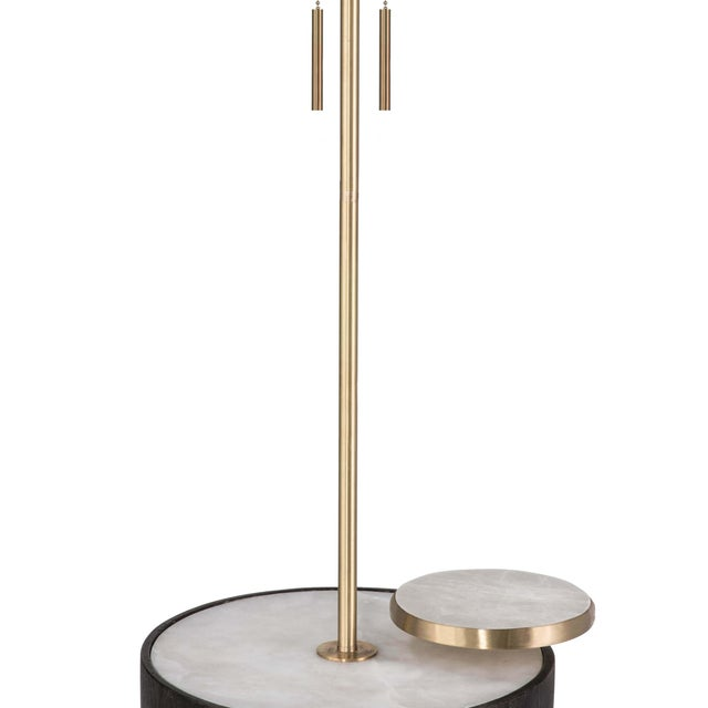 Not Yet Made - Made To Order Theo Floor Lamp in Ebony For Sale - Image 5 of 7
