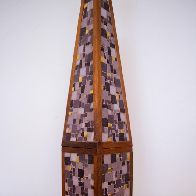 Black Pair of Mosaic Lamps, 1950s For Sale - Image 8 of 9