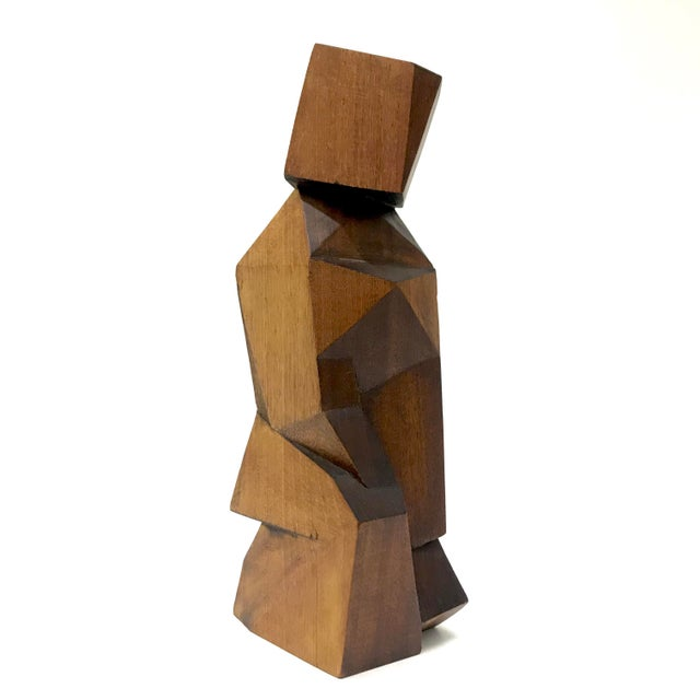Signed Cubist Abstract Figure Sculpture - Image 2 of 6
