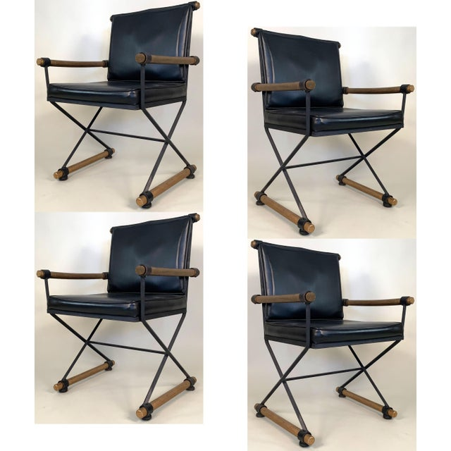 Metal 1960s Directors Chairs in the Style of Cleo Baldon - Set of 4 For Sale - Image 7 of 7