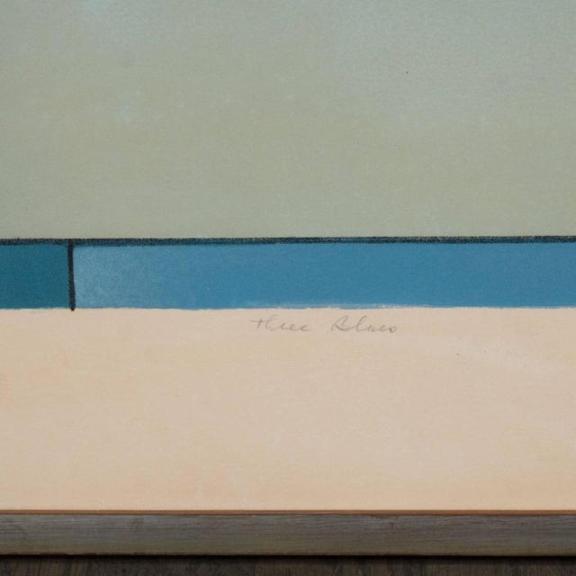 American Ludwig Sander Geometric Color Field Lithograph For Sale - Image 9 of 10
