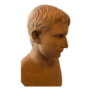 Danish Terracotta Bust of Octavius by Ipsen 1880s For Sale