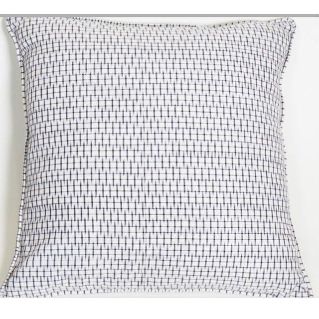 Light Graphite Ikat Black Pillow Covers - Pair - Image 2 of 3