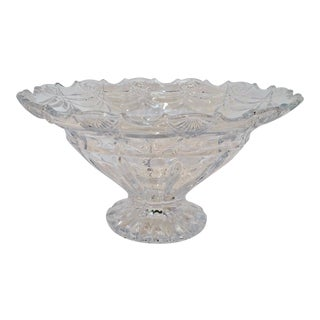 Shannon Godinger Espirit Large Crystal Bowl W/Pedestal For Sale