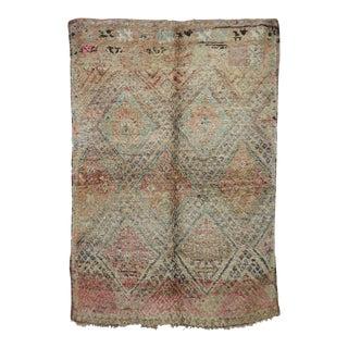 "Boujad Vintage Moroccan Rug, 6'3"" X 8'9"" For Sale"