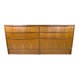 1970s Mid Century Danish Teak Steens Chest of Drawers For Sale