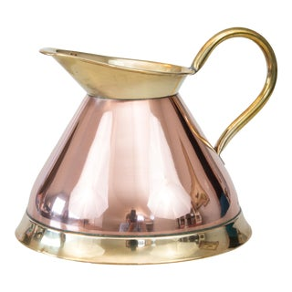Mid-Century English Copper and Brass Pitcher For Sale