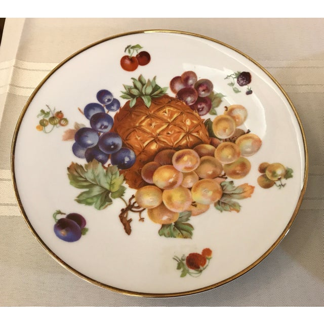 1930's German Bavarian China Fruit Plates - a Pair For Sale - Image 4 of 6