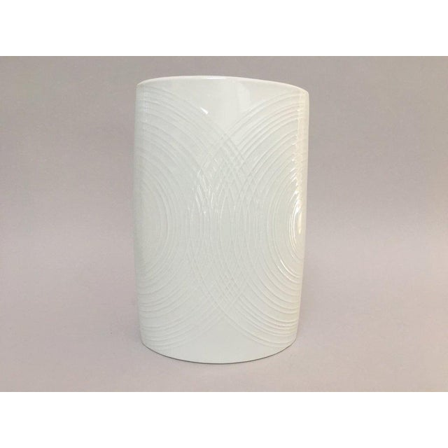 White Porcelain Naaman Op Art Pillow Vase For Sale - Image 10 of 10