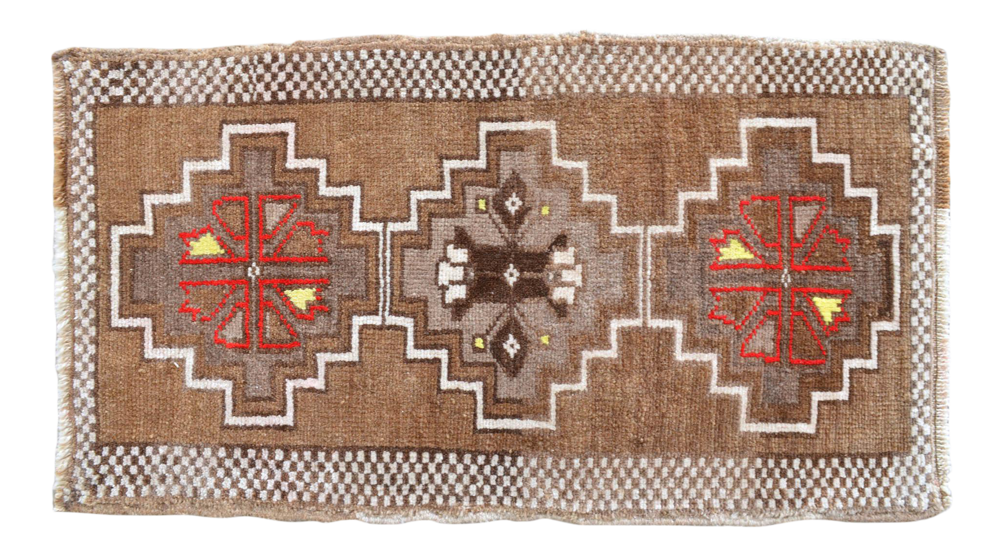 Bedside Rug,Little Gift Rug,Turkish Hand Knotted Small Carpet,Faded Tiny Bath Mat,Welcome Mat,Low Pile Frontdoor Rug 4/' X 2/' 5/'/' Sink Mat