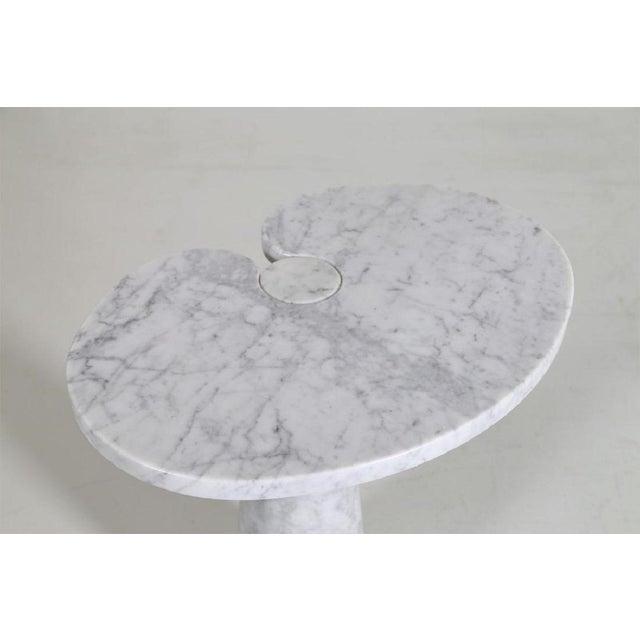 Italian Angelo Mangiarotti Carrara Marble Table For Sale - Image 3 of 5