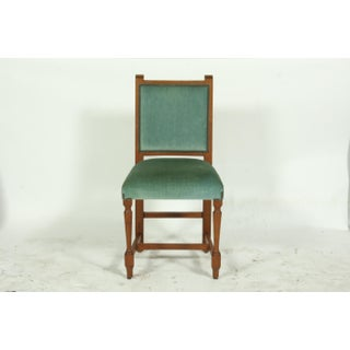 Vintage Set of 14 French Mission Oak Refectory Dining Room Chairs Preview