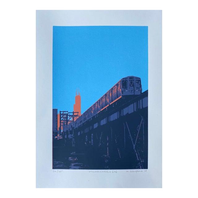 """Milwaukee and 606"" Contemporary Serigraph by Hiroshi Ariyama For Sale"