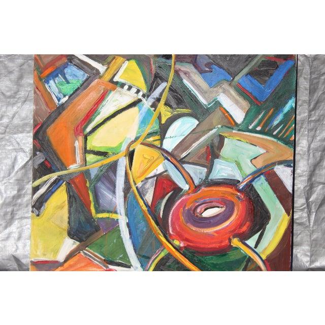33 x 35 Mid-Century Modern Neat Bold Colored Abstract; Artist: Friesen