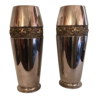 WMF Alemania Art Nouveau Deluxe Size Vases- 2 Pc