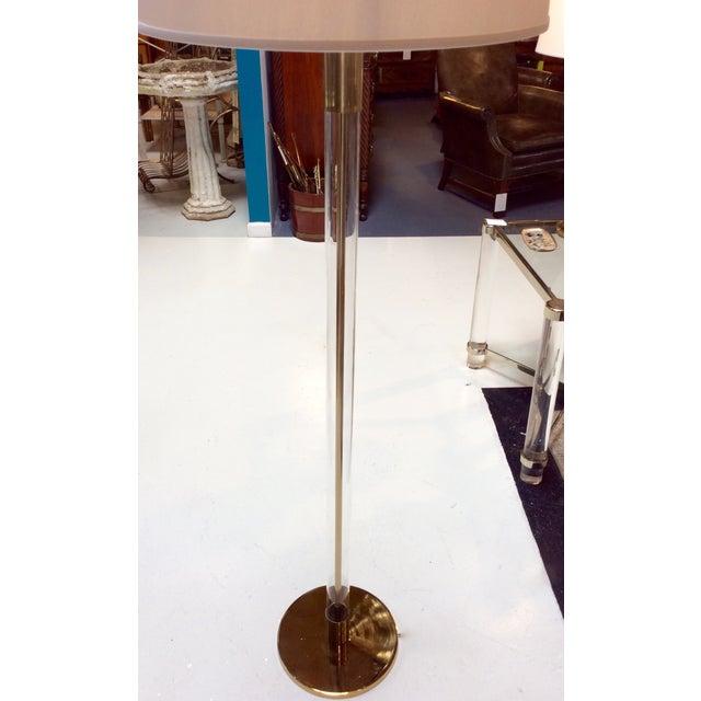Hansen Lighting Co.Style Glass & Brass Floor Lamps - Image 5 of 6
