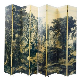 Piero Fornasetti Folding Screen For Sale