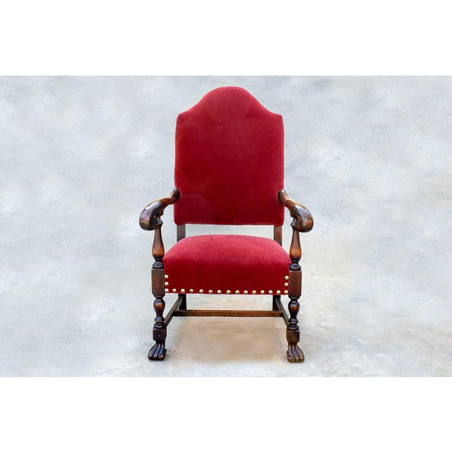 American Empire Style Armchair in Mahogany, Circa 1890 For Sale - Image 10 of 10