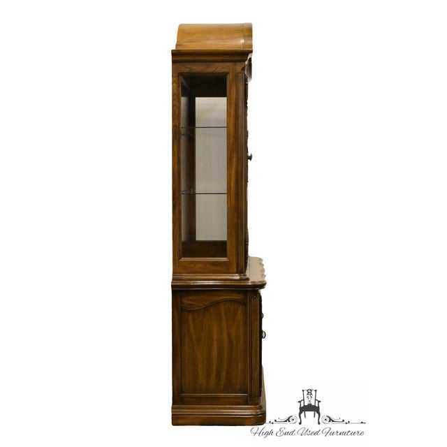 20th Century French Country American Drew Illuminated China Cabinet For Sale - Image 11 of 13