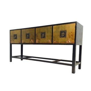 Renzo Rutilli Credenza / Sideboard With Gold Leaf Door Panels For Sale