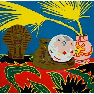 """Crystal Ball"" Serigraph by Hunt Slonem For Sale"
