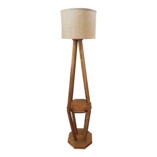 Leviton Mid-Century Modern Danish Teak Floor Lamp For Sale