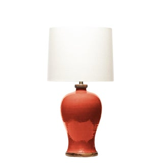 Lawrence & Scott Dashiell Table Lamp in Living Coral For Sale