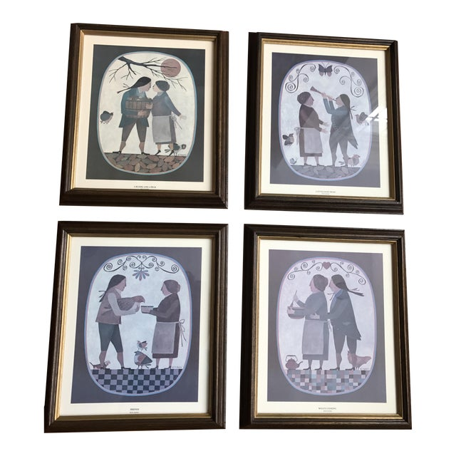 Grouping of 4 Primitive Framed Pictures - Image 1 of 7