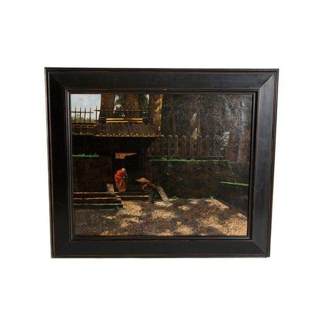 Late 19th Century Francis Neydhart Oil on Canvas For Sale - Image 13 of 13