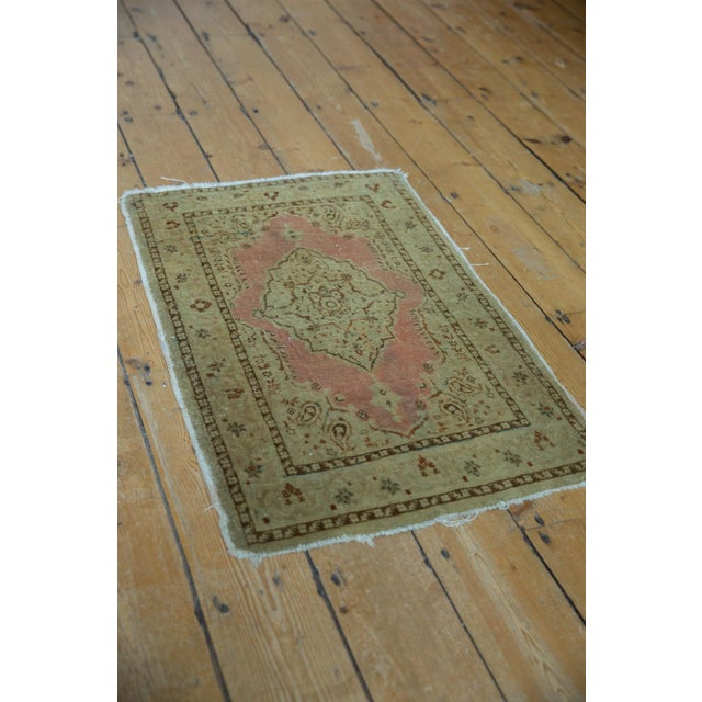 "Pink Antique Distressed Jalili Tabriz Rug Mat - 1'10"" X 2'11"" For Sale - Image 8 of 9"