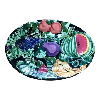 "Vicki Carroll Studio ""Bon Appetite"" Oval Serving Platter For Sale"
