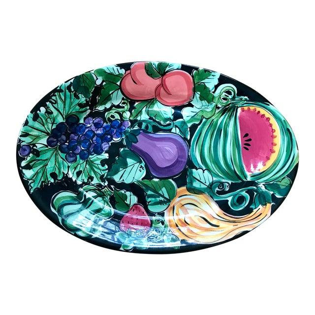 "Vicki Carroll Studio ""Bon Appetite"" Oval Serving Platter For Sale"