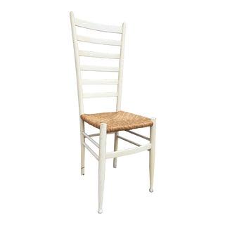 Vintage Mid Century Italian Ladderback Chair For Sale