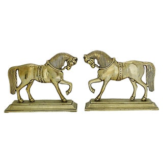 English Horse Doorstops - a Pair For Sale