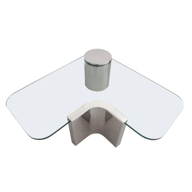 Polished Steel Cantilever Coffee Table - Image 2 of 11