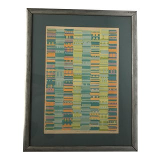 Vintage Original Abstract Screen Print