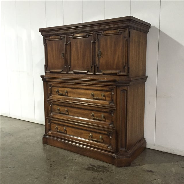 Vintage Walnut Highboy Dresser - Image 3 of 7