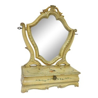 Venetian Paint Decorated Table Mirror For Sale