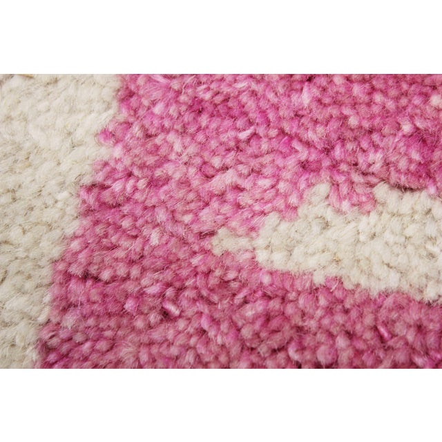 2020 Aara Rugs Pink Handknotted Wool Rug For Sale - Image 4 of 9