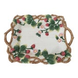 Image of Fitz and Floyd Faux Bois Berry Handled Tray For Sale
