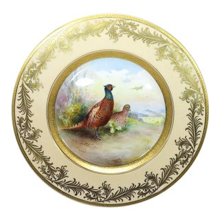 """Minton England Plate """"Pheasant"""" Signed by H. Holland"""