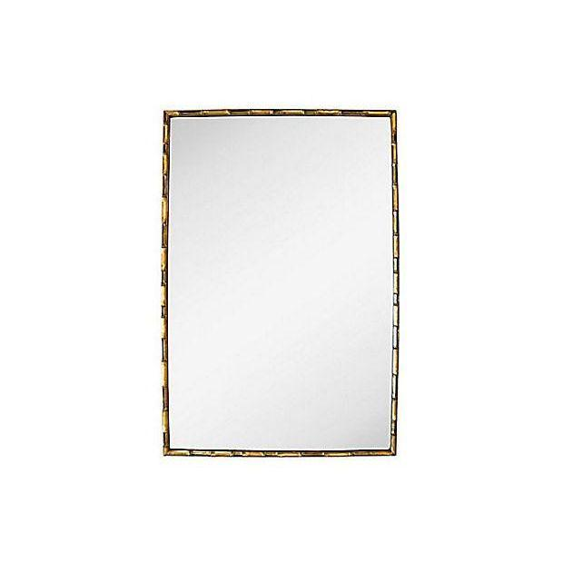 Vintage Gold Faux Bamboo Wall Mirror - Image 4 of 4