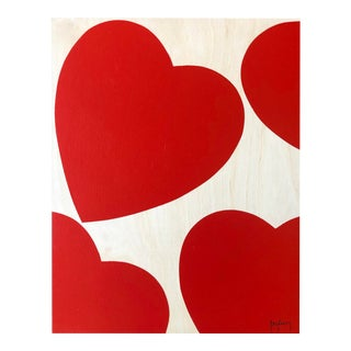 Modern Hearts Painting by Tony Curry For Sale