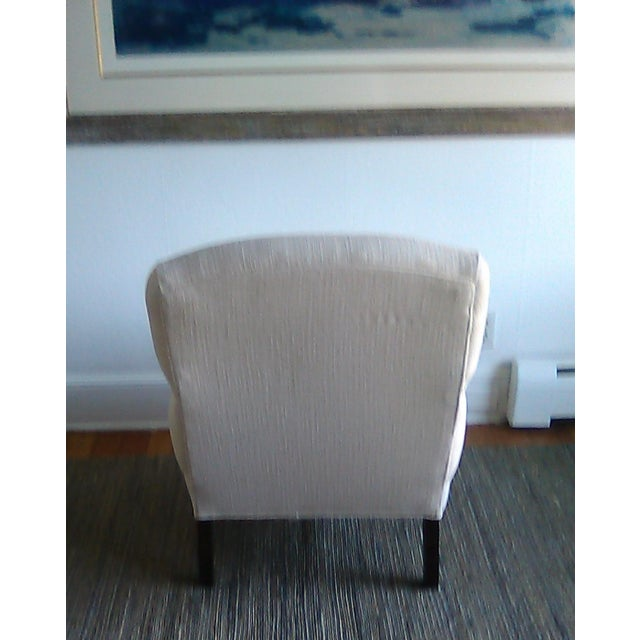 Lillian August Custom Made Lee Industry Fireside Lounge Chair For Sale - Image 9 of 10