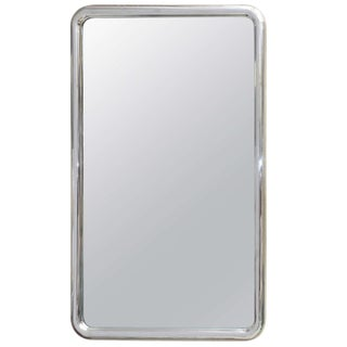Louis Philippe Style Modernist Steel Mirror For Sale