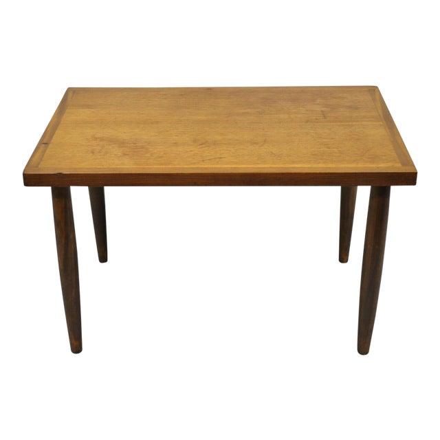 Mid Century Modern Walnut Rectangular Side Table For Sale