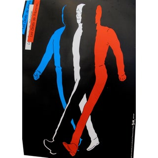 1989 Original Poster for Artis 89's Images Internationales Pour Les Droits De l'Homme Et Du Citoyen - Tricolor Man For Sale