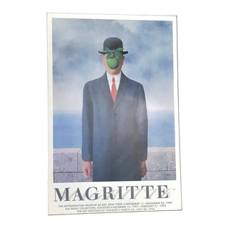 Authentic Museum Exhibition Poster Magritte the Son of Man For Sale