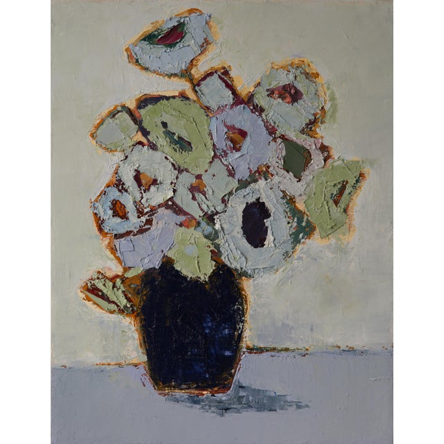 Abstract floraal painting oil on canvas, by Bill Tansey.